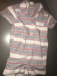 Old navy White, gray, and black stripe boys clothes   Lancaster, 93534