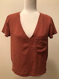 Forever 21 Frayed Neck High Low Shirt Woodbury, 08096