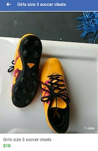 Girls size 3 soccer cleats Ashburn, 20148
