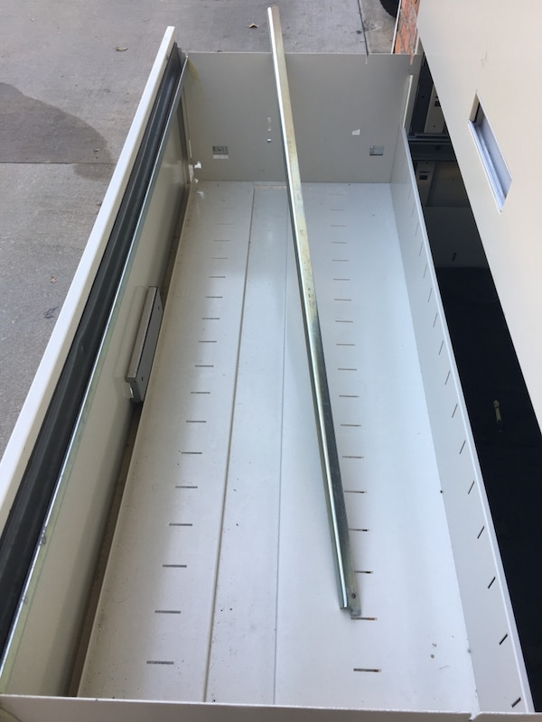 "42"" 4-Drawer Lateral File Cabinet  • w/Lock no key, Used f00a4219-f015-4a63-9e55-c3d45dad6095"