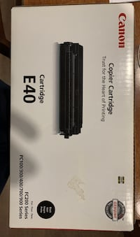 Canon Copier Cartridge E40 Black Toronto, M6J 2B6