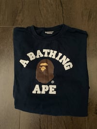 Authentic Long sleeve navy BAPE shirt (MEDIUM)