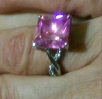 Ladies Pink Ice Ring (Sterling Silver) Macon, 31217