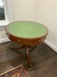 round brown wooden framed green wooden table Centreville, 20120