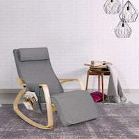 Relax Adjustable Lounge Rocking Chair with Pillow & Pocket Toronto, M1V 1W1