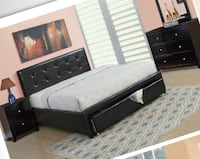 Queen  bed  cama leather Miami, 33186