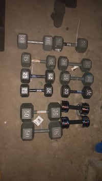 DUMBBELLS-$1.50 a pound