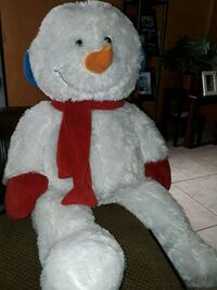 white and red bear plush toy Los Angeles, 90059