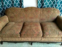 brown and beige floral 3-seat sofa Toronto, M3J