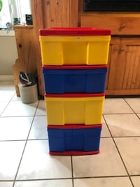 Plastic stackable drawer