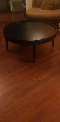 Round brown wooden coffee table 230 km