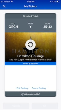 Hamilton in Milwaukee on Nov 2nd