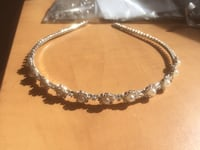 silver and diamond studded necklace Calgary, T2W