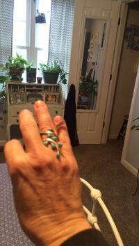 Sterling silver with teal gemstone ring Anderson, 29625