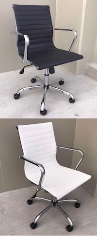New in box $55 each mid back PU leather ribbed executive modern contemporary office chair 3 colors Los Angeles, 90032