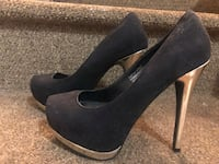 Kenny Love Penny heels (6) black and gold Alexandria, 22309