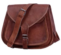 "Leather Bags 9"" Indian Genuine Leather Women's Messenger Bag Shoulder Bag Size Small Brown - brand new  Hamilton, L8W 2M4"