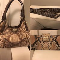 Coach Purse with matching Wallet and Scarf Clearwater, 33764