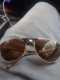 gold-colored framed Ray-Ban aviator sunglasses New York, 11207
