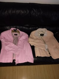 Real leather, pink and peach, jackets Honolulu