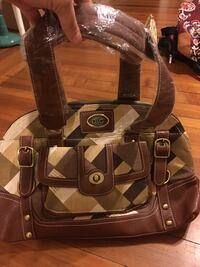 Brown and tan women's handbag - new