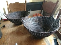 Wicker and metal strong baskets