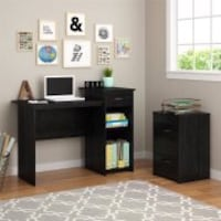 BLACK STUDENT DESK(DOES NOT INCLUDE COMPUTER OR OTHER ACCESORIES)  $49 Houston, 77092