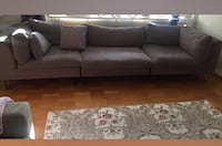gray 3-seat couch