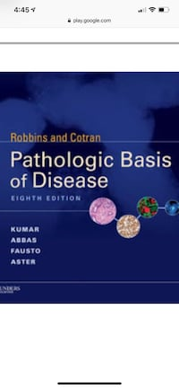 Robbins pathology text book with pocket book