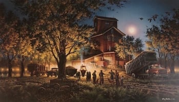 """Bountiful Harvest"" print by Terry Redlin 28 1/2 x 16 1/2""s"