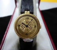 Ladies 18K Gold Patek Philippe Wrist Watch Leather Band 1980's