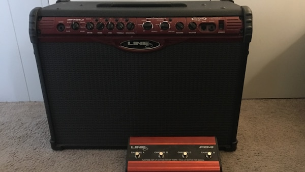 Line 6 guitar amplifier with pedal 250$ obo