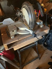 """Dewalt 12"""" compound miter saw! Been sitting in storage for couple years. Father only used it on TWO home projects! (Small deck & patio one year, front porch the following year) Been in storage unit ever since. Will come with the stand it's on if buyer wan Ankeny, 50023"""