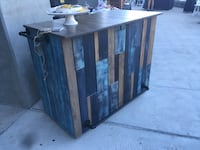 brown wooden framed glass display cabinet Los Angeles, 90028