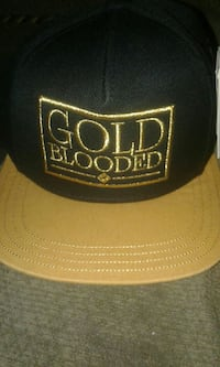 flat fifty gold blooded snap back