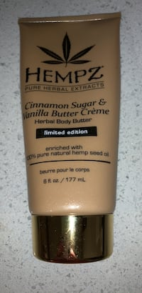 Hempz cinnamon sugar and vanilla buttercream body butter lotion. New Burnaby, V3N 4R8