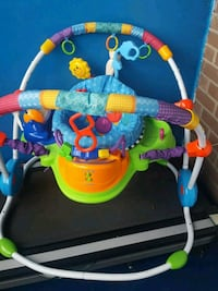 baby's blue, green, and red jumperoo Toronto, M9V 5C7