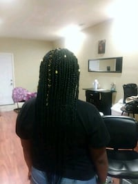 Tribal braids with box braids in back Jonesboro, 30238