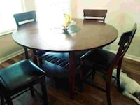 Counter Height Dining table. Includes 4 chairs. Storage underneath we for wine glasses etc. Minor wear and tear as it is 3 years old. Houston, 77004