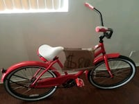 red and white cruiser bike Los Angeles, 90044