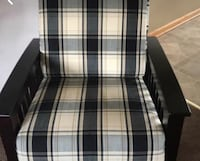 Black and white plaid fabric love seat and chair Woodbury Heights, 08097