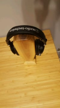 solid walnut headphone stand
