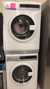 white and black front-load washer Laurel, 20707