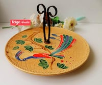Bird Of Paradise Ceramic Cheese Plate Trenton