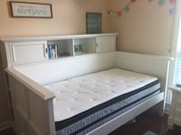 White daybed and bookshelf with mattress Nashville, 37211