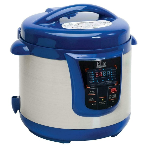 Elite Platinum 8 Quart 14-in-1 Multi-Use Programmable Pressure Cooker, Slow  Cooker, Rice Cooker, Sauté, and Warmer