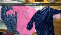 baby's pink and black onesie Mission, 78572