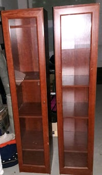 (2) Matching Cabinets with Shelves Charleston