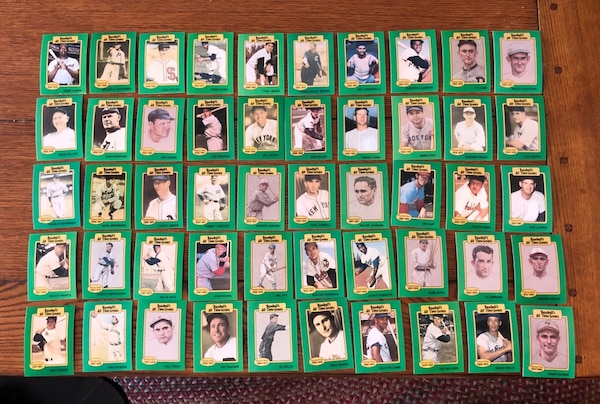 1987 All Time Greats Baseball Cards Set 50 Cards Babe Ruth Mickey Mantle