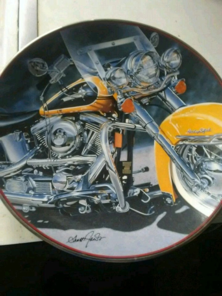 Photo Harley-Davidson.Franklin Mint collectible plate